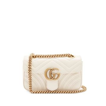Gucci - Gg Marmont Mini Quilted-leather Cross-body Bag - Womens - White