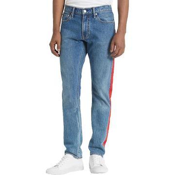 Calvin Klein Jeans Mens Straight Leg Jeans Slim Leg Taped