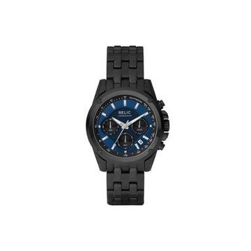Relic by Fossil Men's Grant Multifunction Stainless Steel Black Watch