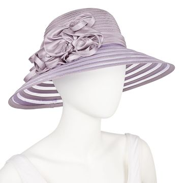 Scala Tafeta Braid With Flowers Derby Hat