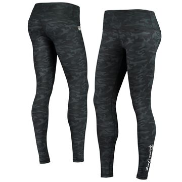 ZooZatz Houston Dynamo FC Women's Black Custom Stacked Camo Leggings