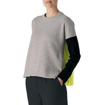 Whistles Freida Colorblocked Wool Sweater