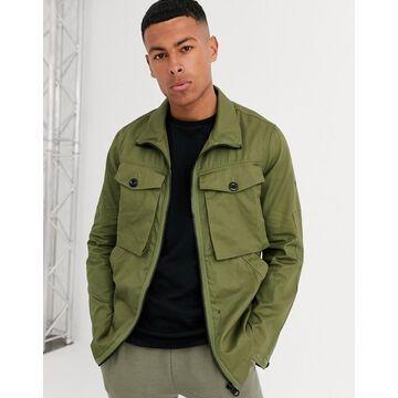 G-Star zip utility overshirt jacket-Green