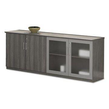 Mayline, Medina Series Low Wall Cabinet Doors, 1 Each, Gray, Laminate