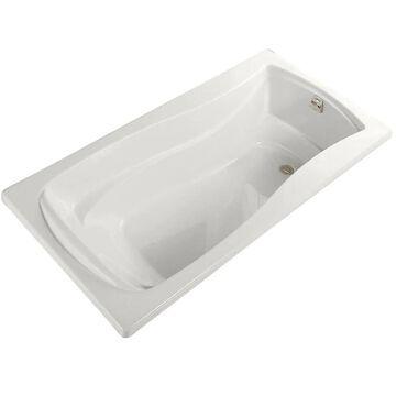 KOHLER Mariposa 36-in W x 72-in L White Acrylic Hourglass Right Drain Alcove Bathtub   1259-R-0