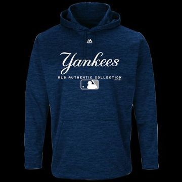 Majestic MLB Player On Field Hoodie - New York Yankees - Navy