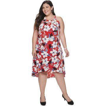 Plus Size Jennifer Lopez Cleo Neck Dress
