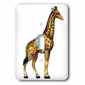 3dRose Circus Giraffe, Single Toggle Switch