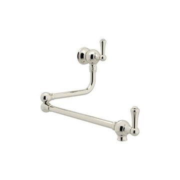 Rohl Wall Mounted Pot Filler in Polished Nickel