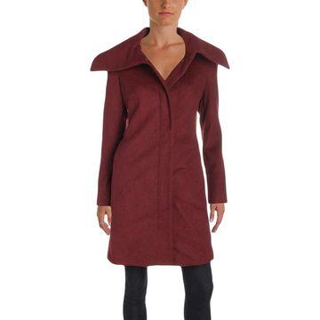 Jones New York Womens Midi Coat Winter Wool Blend