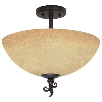 Nuvo Lighting 60/042 3 Light Down Lighting Semi Flush Ceiling Fixture