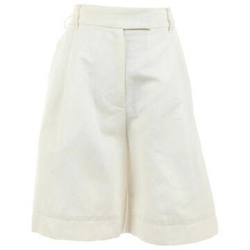 Sacai White Cotton Shorts