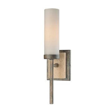 Compositions Aged Patina Iron 1 Light Wall Sconce By Minka Lavery