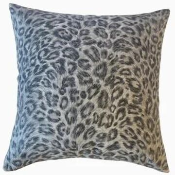 The Pillow Collection Dembe Animal Print Decorative Throw Pillow (Grey - Euro Square - Square)