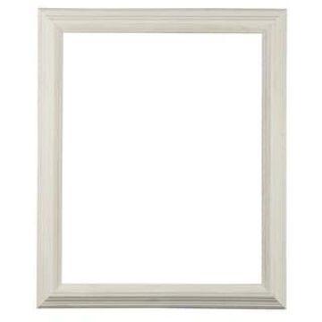 White Open Back Driftwood Frame by Studio Decor