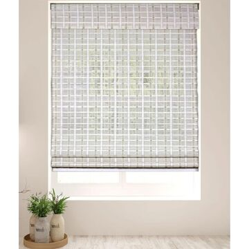 """Arlo Blinds Whitewash Bamboo Shades with 74 Inch Height (36""""W x 74""""H)"""