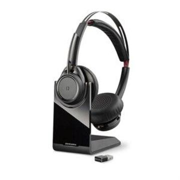 Poly Voyager Focus UC B825 - Headset - on-ear - Bluetooth - wireless - active noise canceling - UC Standard version