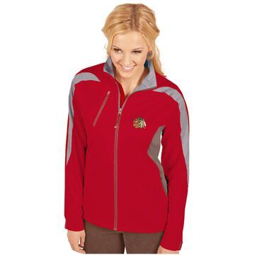 Women's Antigua Red Chicago Blackhawks Discover Full-Zip Jacket