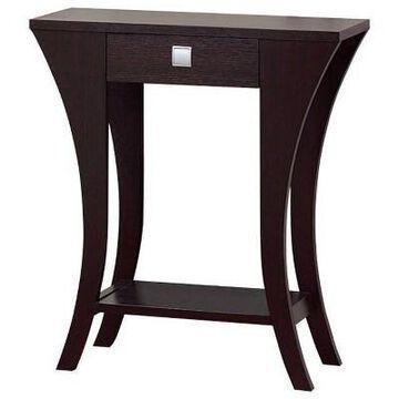 Stylish Console Table Dark Chocolate - Benzara