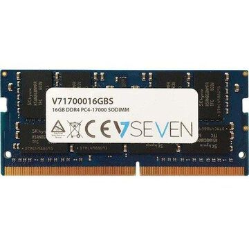 V7 16GB DDR4 SDRAM Memory Module - 16 GB (1 x 16 GB) - DDR4 SDRAM - 2133 MHz DDR4-2133/PC4-17000 - Unbuffered - 260-pin - SoDIMM