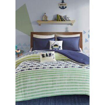 Jla Home Finn Shark Duvet Cover Set - -