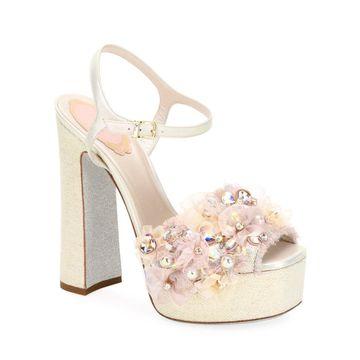 Embellished High Platform Sandals