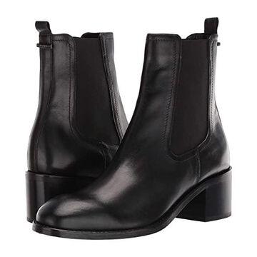 Aquatalia Jemma (Black Calf/Elastic) Women's Shoes
