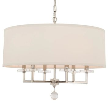 Crystorama Paxton 6-light Polished Nickel Chandelier
