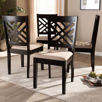 Baxton Studio Caron Wood Dining Chairs - Set of 4