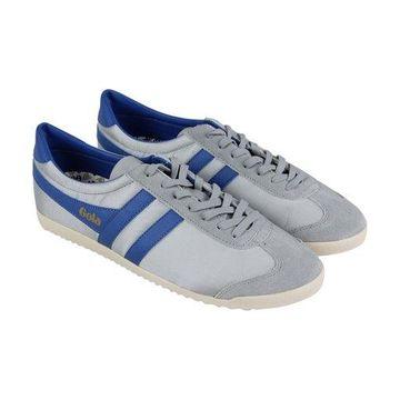 Gola Bullet Grey Marine Blue Mens Low Top Sneakers