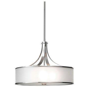 Feiss 4-Light Large Pendant, Brushed Steel