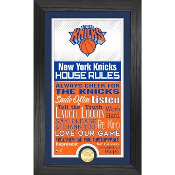 New York Knicks Highland Mint 12'' x 20'' House Rules Supreme Bronze Coin Photo Mint