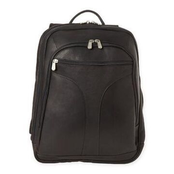 Piel Leather Checkpoint Friendly Urban Backpack in Black
