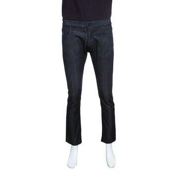 Z Zegna Black Denim Straight Fit Jeans M