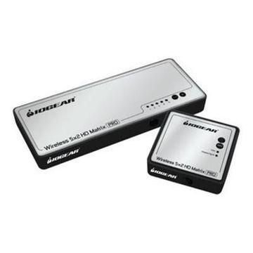 IOGEARLong Range Wireless 5x2 HDMI Matrix PRO(GWHDMS52MB)