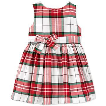 Carter's Baby Girls Plaid Sateen Holiday Dress