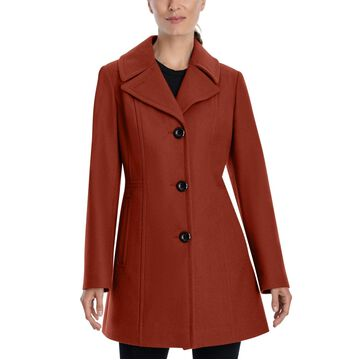 Anne Klein Single-Breasted Peacoat