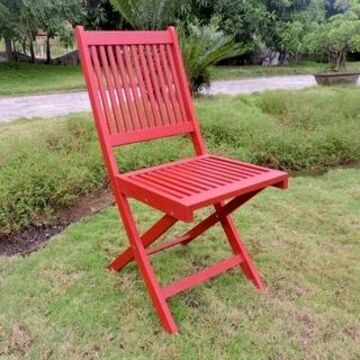 International Caravan Royal Fiji Folding Dining Chair ( Set of 2) (Barn Red)