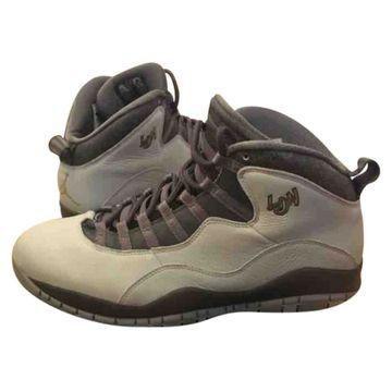 Jordan Air Jordan 10 Grey Leather Trainers
