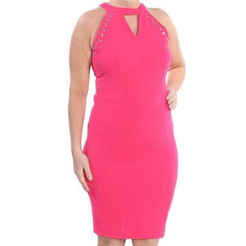 XOXO Womens Pink Embellished Sleeveless Keyhole Above The Knee Sheath Formal Dress Juniors Size: M