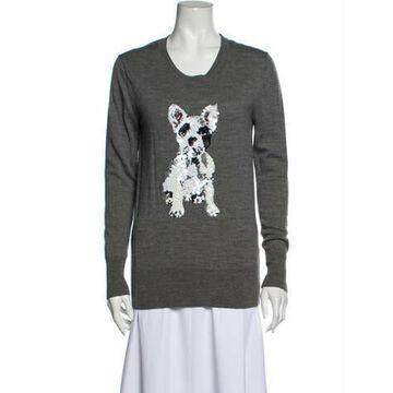 Merino Wool Printed Sweater Wool