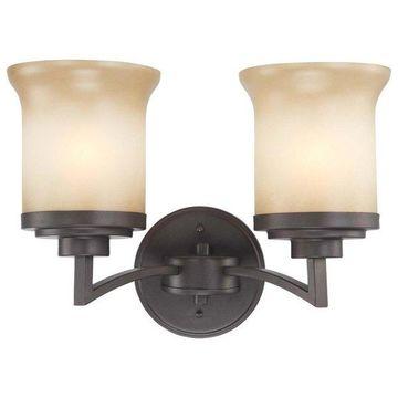 Nuvo Lighting 60/4122 Harmony 2 Light Bathroom Fixture with Saffron Glass