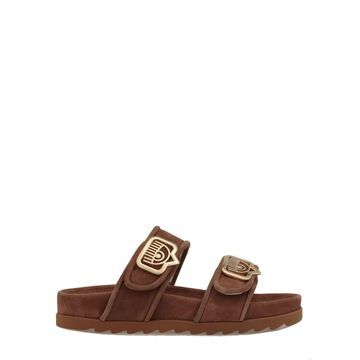 Chiara Ferragni Suede Leather Sandal