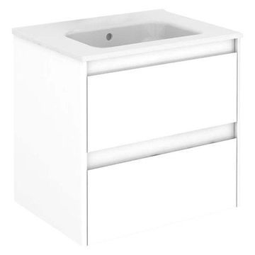 Ambra 60 Complete Vanity Unit, Gloss White, Without Column and Mirror