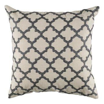 Rizzy Home Quatrefoil Throw Pillow