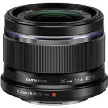 Olympus M. Zuiko Digital 25mm f/1.8 Lens - Black - for Micro Four Thirds System