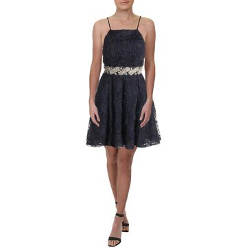 Trixxi Womens Juniors Embellished Soutache Party Dress