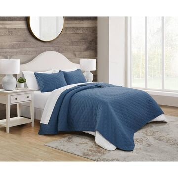 3pc Circle Embossed Quilt Set - VCNY Home