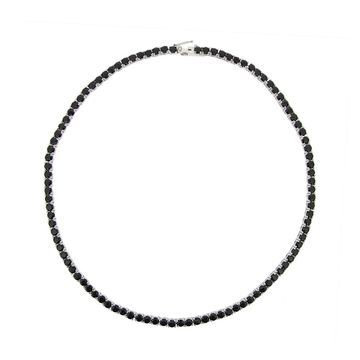 Glitzy Rocks Sterling Silver Black Spinel Necklace (26 1/2ct TGW)