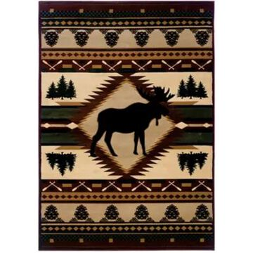 United Weavers Contours Moose Wilderness 7-Foot 10-Inch x 10-Foot 6-Inch Area Rug in Toffee